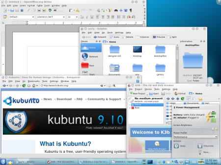 Kubuntu 9.10 Screenshot